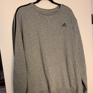 Adidas men's grey sweater size xl. Gently used.